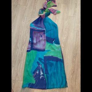 MaxMara Italy 100% silk watercolor dress 10